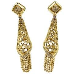18 Karat Gold and Diamonds Earrings