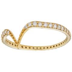 18 Karat Gold and Diamonds Fabri Stackable Ring