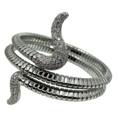 18 Karat Gold and Diamonds Italian Bracelet