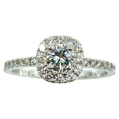 18 Karat Gold and Diamonds Italian Ring