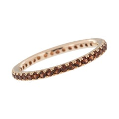 18 Karat Gold and Garnet Eternity Ring