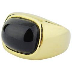 18 Karat Gold and Green Tourmaline Ring