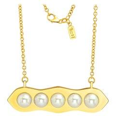 "FARBOD 18 Karat Gold and Pearl Pendant ""Eden"""