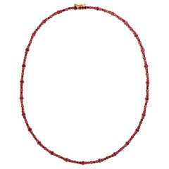 18 Karat Gold and Ruby Rivulet Necklace