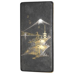 18-Karat Gold and White Gold Asian Cigarette Case