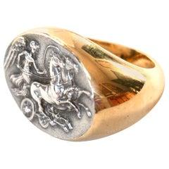 18 Karat Gold Antique Sigillum Ring