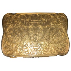 18 Karat Gold Antique Tobacco Box