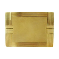 18-Karat Gold Art Deco Cigarette Case