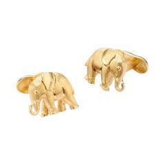 18 Karat Gold Baby Elephant Cufflinks