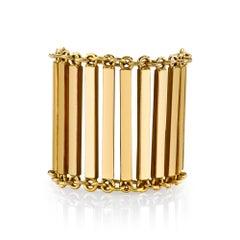 18 Karat Gold Bar Linea Ring