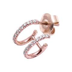 18 Karat Gold Birlliant Cut Diamond Double Ear Cuff Earirng
