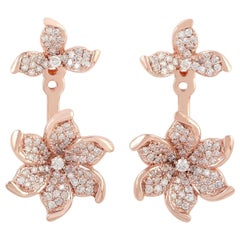 Bloom 18 Karat Gold Diamond Ear Jacket Earrings