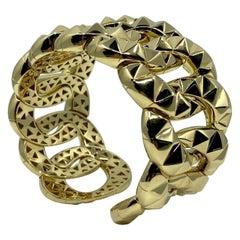 18 Karat Yellow Gold Italian Bangle Bracelet