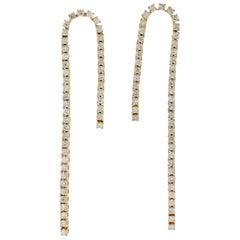 18 Karat Gold Chain Drop Diamond Earrings