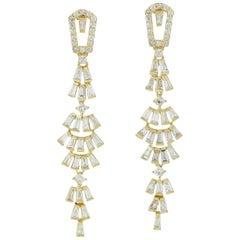 18 Karat Gold Chandelier Diamond Earrings