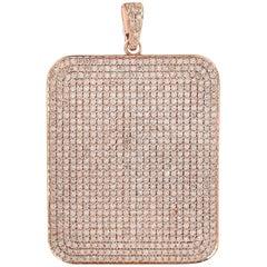 18 Karat Gold Charm Diamond Large Pendant Necklace