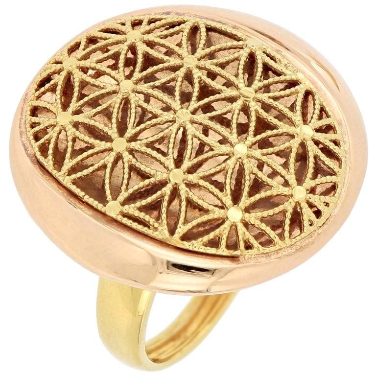 18 Karat Gold Cocktail Ring For Sale