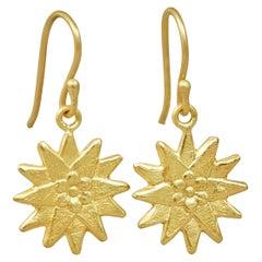 18 Karat Gold Dandelions on Hooks
