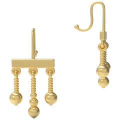 22 Karat Gold Dangle Earrings by Romae Jewelry Inspired by Ancient Examples