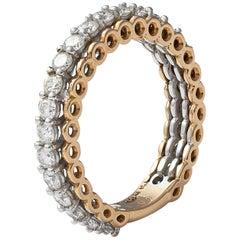 18 Karat Gold Diamond Band