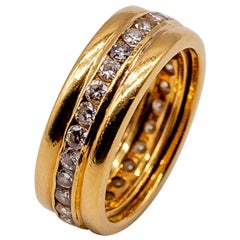 18 Karat Gold Diamond Band
