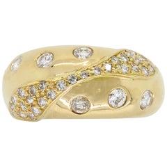 18 Karat Gold Diamond Band Ring