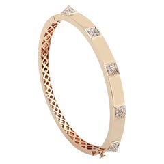 18 Karat Gold Diamond Bangle Bracelet