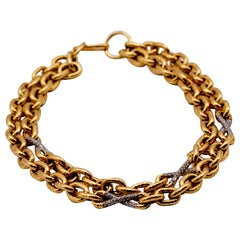 18 Karat Gold Diamond Chain or Bracelet