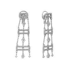 18 Karat Gold Diamond Chandelier Drop Earrings