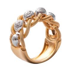 18 Karat Gold Diamond Cocktail Ring