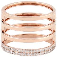 18 Karat Gold Diamond Coil Ring