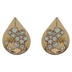 18 Karat Gold Diamond Constellation Stud Earrings