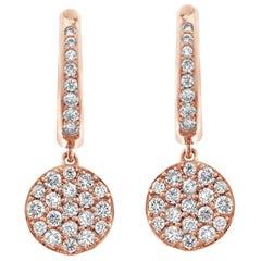 18 Karat Gold Diamond Drop Earrings