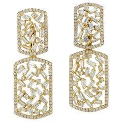 18 Karat Gold Diamond Ear Jacket Earrings