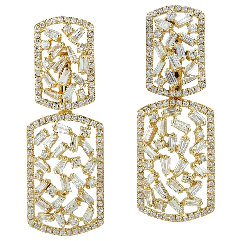 1 PAIR of Earring Jackets with Open Jump Ring Attached Special Order for carlo l 18k Gold