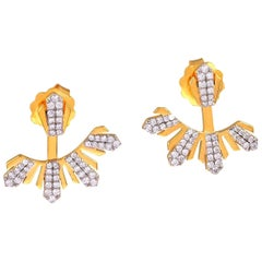 18 Karat Gold Diamond Ear Jacket Earrings