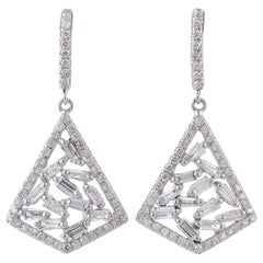 18 Karat Gold Diamond Earrings