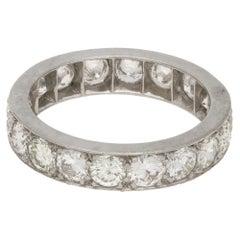 Diamond Eternity Ring in 18 Karat White Gold 3.15cts