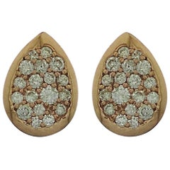 18 Karat Gold Diamond Galaxy Stud Earrings