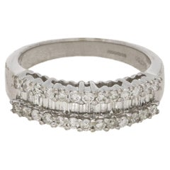 Diamond Half Eternity Ring in 18 Karat White Gold