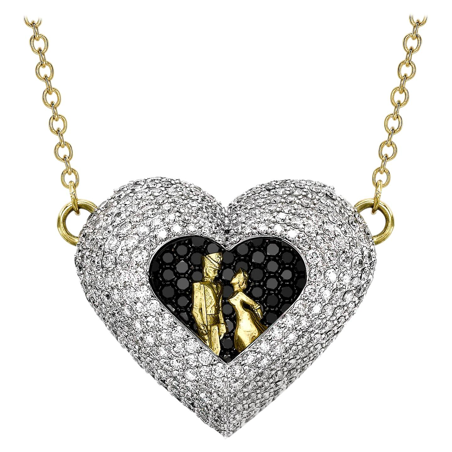 Sybarite Jewellery Heart 4.23 Carat Diamond Fashion Pendant Necklace