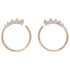 18 Karat Gold Diamond Hoop Earrings