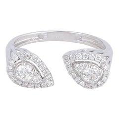 18 Karat Gold Diamond Open Ring