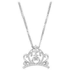 18 Karat Gold Diamond Pendant with Necklace
