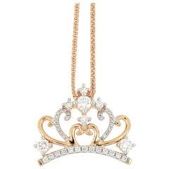 18 Karat Gold Diamond Pendant 'With Necklace'