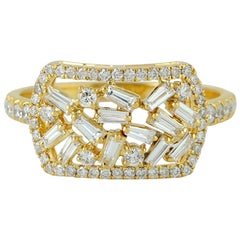 18 Karat Gold Diamond Ring