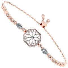 18 Karat Gold Diamond Snowflakes Bracelet