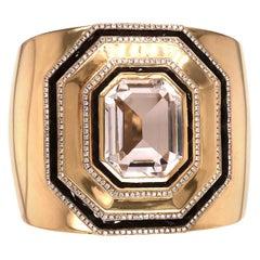 18 Karat Gold, Diamond, Spinel, and Rock Crystal Cuff Bracelet by Ivanka Trump