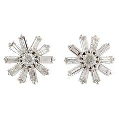 18 Karat Gold Diamond Stud Earrings