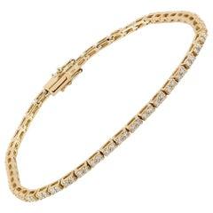 18 Karat Gold Diamond Tennis Bracelet